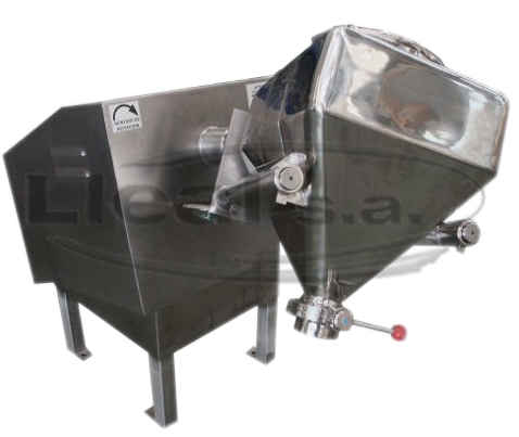Intermediate mixer for 150 L. containers. Rotation speed 30 rpm.