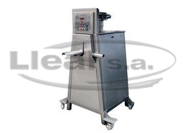 S-50-T bagging off machine with electric panel in IP-55 protection and discharge outlet for filling of valve sacks