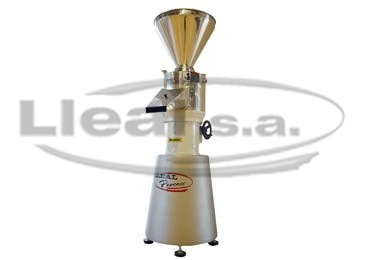 Vertical colloidal grinder model MCV-6 equipped with feed system by hopper