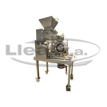 K-160 Pharma grinder made of stainless steel AISI-316-L, with feed system by means of a TK screw feeder. The grinding process is carried out by swing hammers