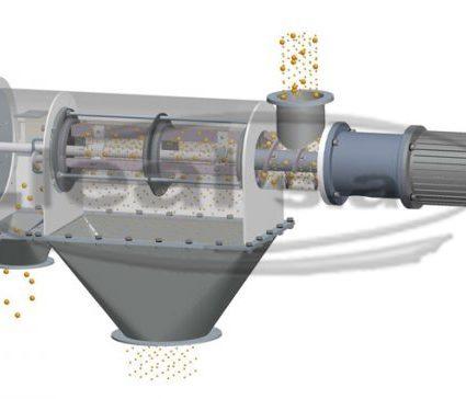 Esquema en 3D donde se observa el funcionamiento de una TAMICEN CEN-650