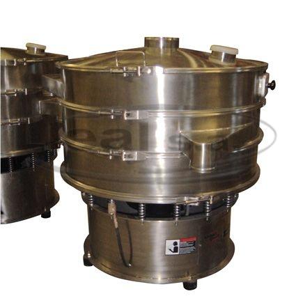 Tamizadoras K-1500 montadas con 2 tamices y con sistema de obertura lateral para inspección del tamiz