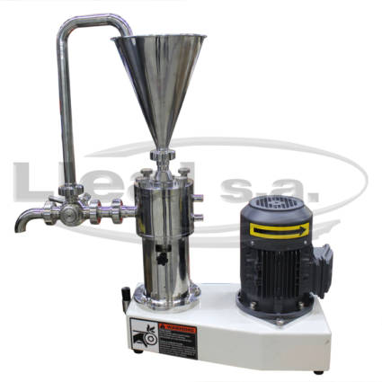 Laboratory colloid mill model MCV-1 with product recirculation system.