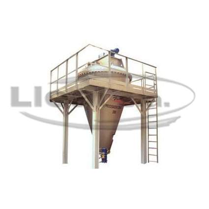3000 L conical mixer designed for vacuum and pressure operation, and equipped with double cooling/heating jacket