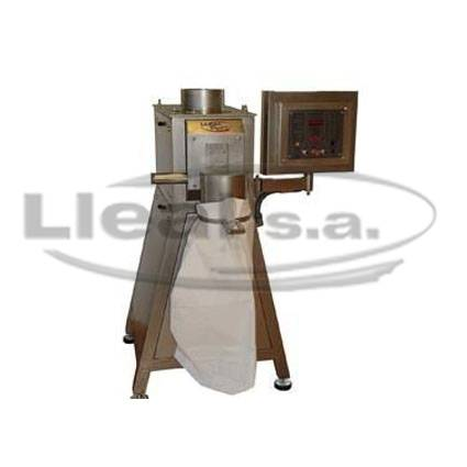 S-50-T bagging off machine with electric panel in IP-55 protection and discharge outlet for filling of open-mouthed sacks
