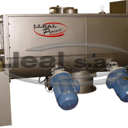 MB-700 ribbon blender with two intensifier turbines to improve the mixture and prevent from agglomerates