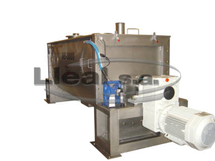 MB-3000 ribbon blender with lateral openings to facilitate the cleaning of the equipment.