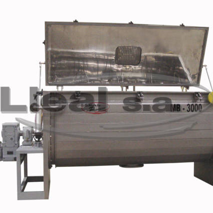MB-3000 ribbon blender with double jacket for product heating or cooling