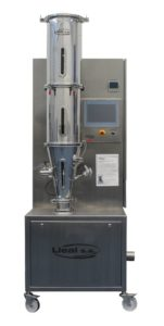 Dryer: Fluid Bed model SLFLL-3, for laboratory operation..