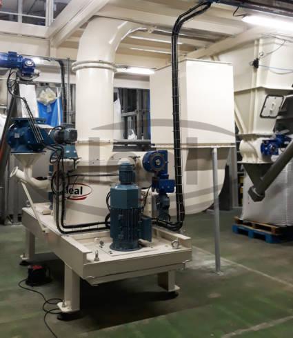 Instal·lació de micronitzat i separació MMS-1500-AC en acer al carboni